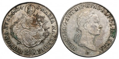 I.Ferenc 20 krajcár 1834 B