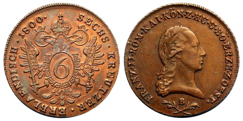 I.Ferenc 6 krajcár 1800 B