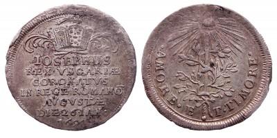 I.József Német Római császárrá koronázása 1690 ezüst zseton