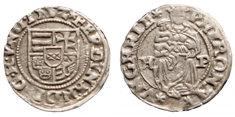 I. Ferdinánd denár 1552 H-P R!