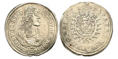 I. Lipót XV krajcár 1663 KB
