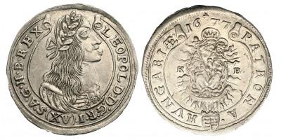 I. Lipót XV krajcár 1677 KB