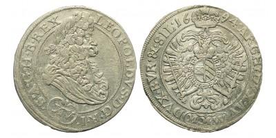 I. Lipót 15 Kreuzer 1694 Breslau