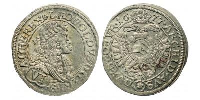 I. Lipót 6 Kreuzer 1677 Bécs