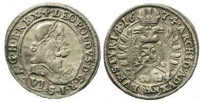 I. Lipót 6 Kreuzer 1674 Graz
