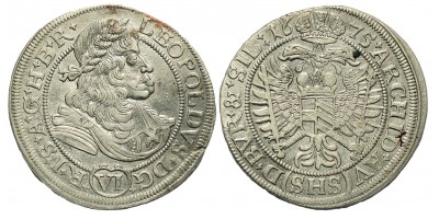 I. Lipót 6 Kreuzer 1675 Boroszló
