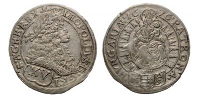 I.Lipót 15 krajcár 1676 Pozsony
