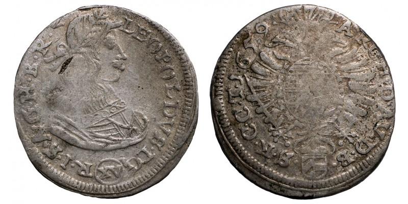 I.lipót XV krajcár 1659 Bécs