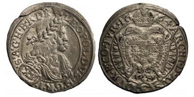 I.lipót XV krajcár 1664 Bécs