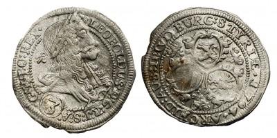 I.Lipót 3 krajcár 1704 I-A Graz