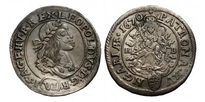 I.Lipót 6 krajcár 1670