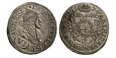 I.Lipót VI kreuzer 1674 Bécs