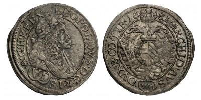I.Lipót VI krajcár 1681 MM Bécs