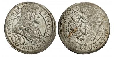 I.Lipót VI krajcár 1690 MM Bécs