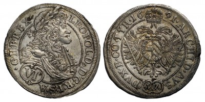 I.Lipót VI krajcár 1691 MM Bécs