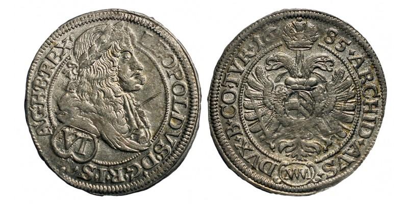 I.Lipót VI krajcár 1685 MM