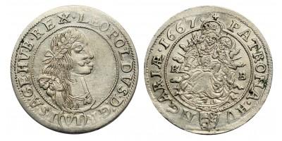 I.Lipót VI krajcár 1667 KB.