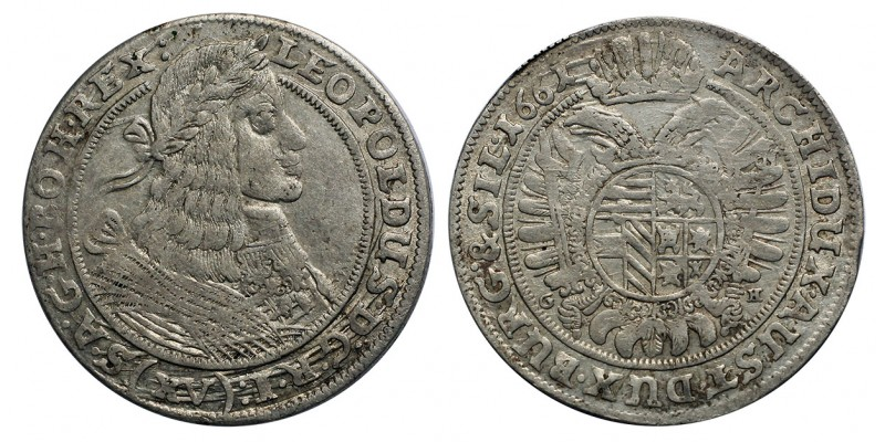 I.lipót XV  krajcár 1661 Breslau