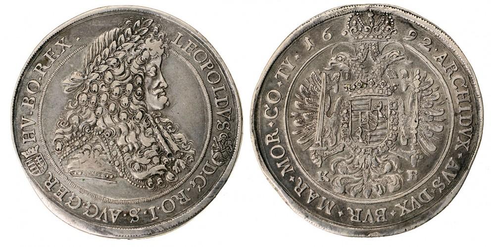 I.Lipót tallér 1692 KB.