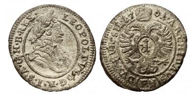 I.Lipót 1 krajcár 1701 F-N
