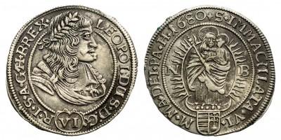 I.Lipót  6 krajczár 1680 NB