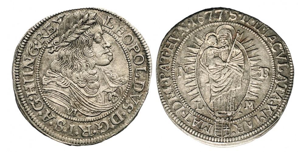 I.Lipót  6 krajczár 1677 NB/LM