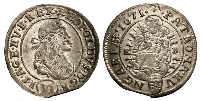 I. Lipót 6 krajcár 1671 KB