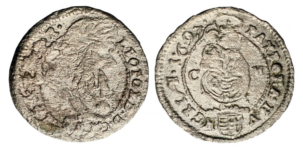 I. Lipót krajcár 1697 CM