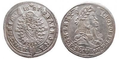 I.Lipót 15 krajcár 1681