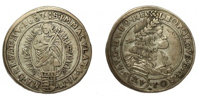 Leopold I. 15 krajczár 1687 NB/PO
