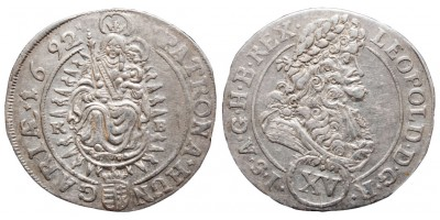 I.Lipót 15 krajcár 1692
