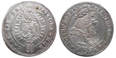 I.Lipót 15 krajcár 1694