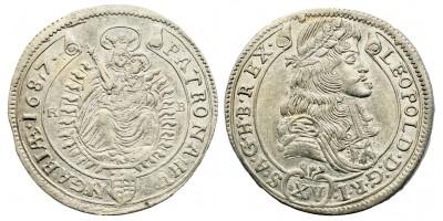 I.Lipót 15 krajcár 1687