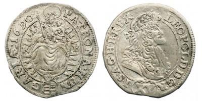 I.Lipót 15 krajcár 1690