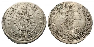 I. Lipót XV krajcár 1674 KB
