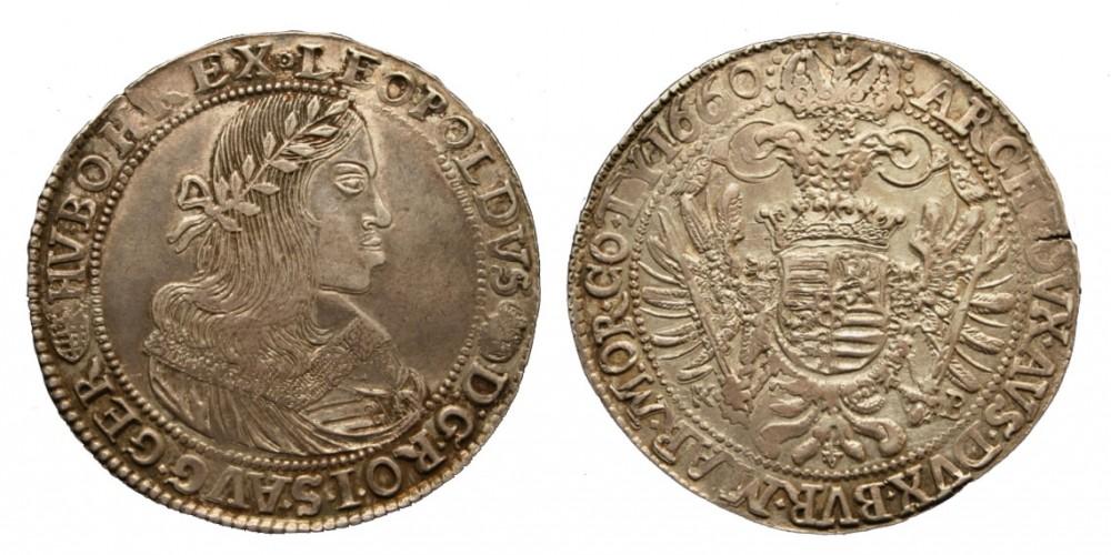 I. Lipót tallér 1660 KB