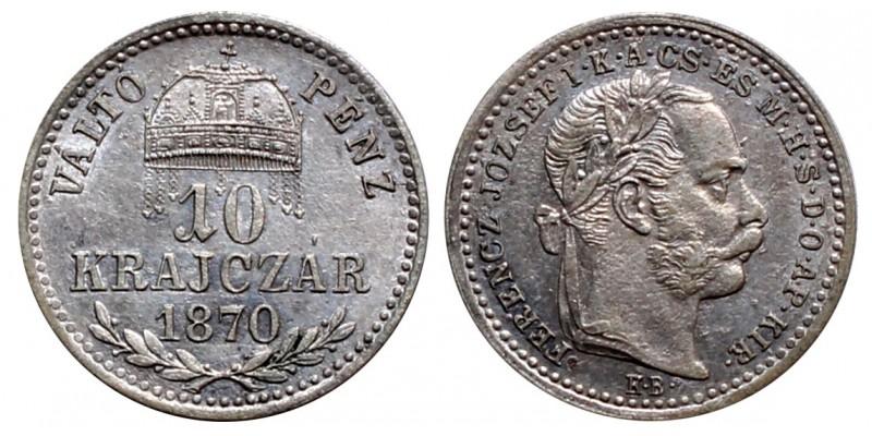 Ferenc József  10 krajcár 1870 KB VP