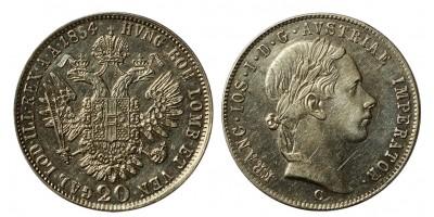 Ferenc József 20 krajcár 1854 C