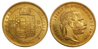 Ferenc József 8 Forint 1875 KB