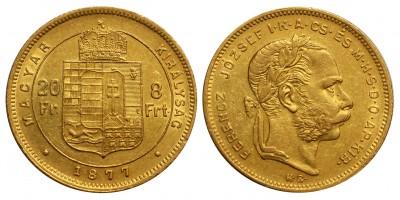 Ferenc József 8 Forint 1877 KB