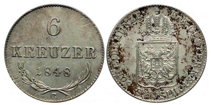 Ausztria 6 krajcár 1848 C