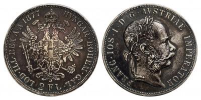 Ferenc József 2 Florin 1877