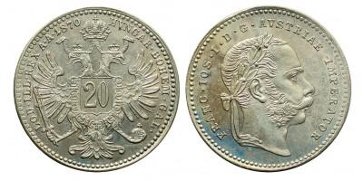 Ferenc József 20 krajcár 1870