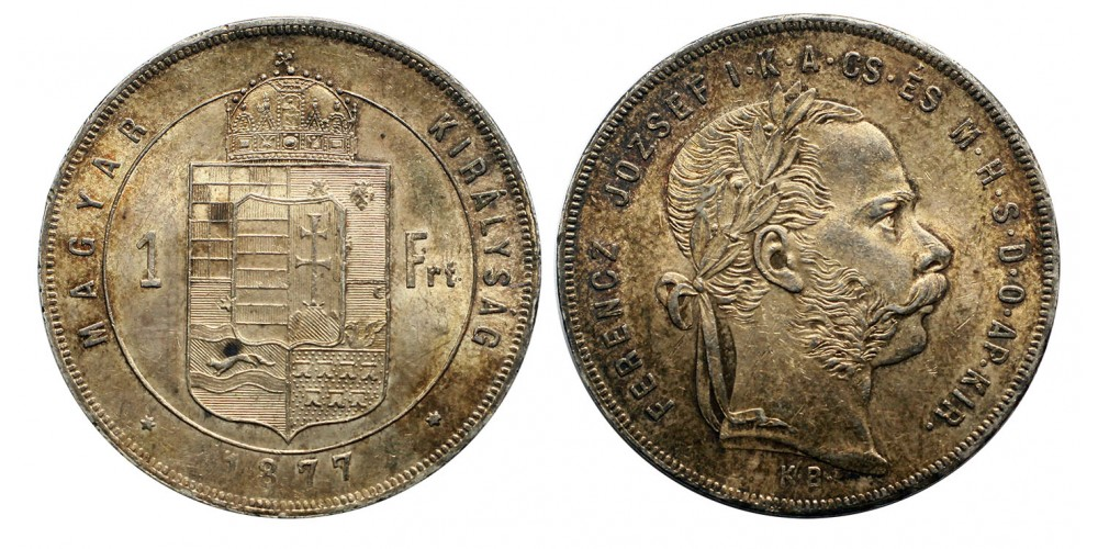 Ferenc József 1 Forint 1877 KB