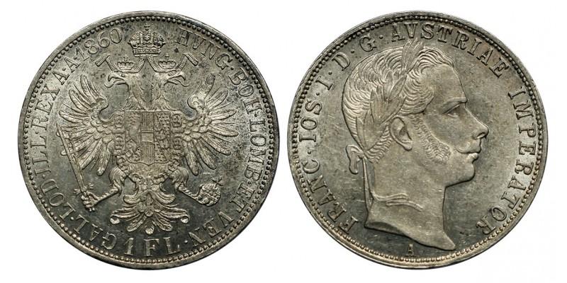 Ferenc József 1 florin 1860 A