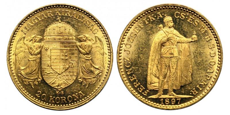 Ferenc József 20 korona 1897 KB.