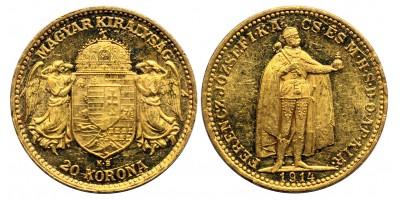 Ferenc József 20 Korona 1914 KB.