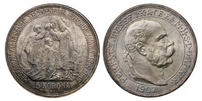 5 Korona 1907 Koronázási