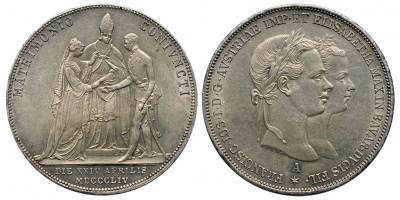 Ferenc József házassági 2 gulden 1854 A