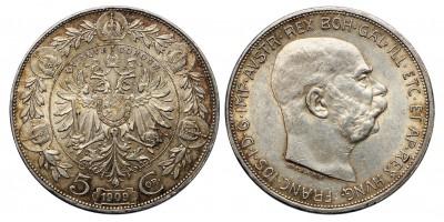 Austria 5 korona 1909 vjn.